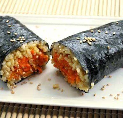 Clean Eating Nori Carrot Wraps