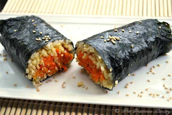Clean Eating Nori Carrot Wrap