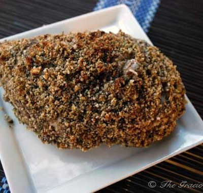 Clean Eating Nut Crusted Baked Chicken Recipe