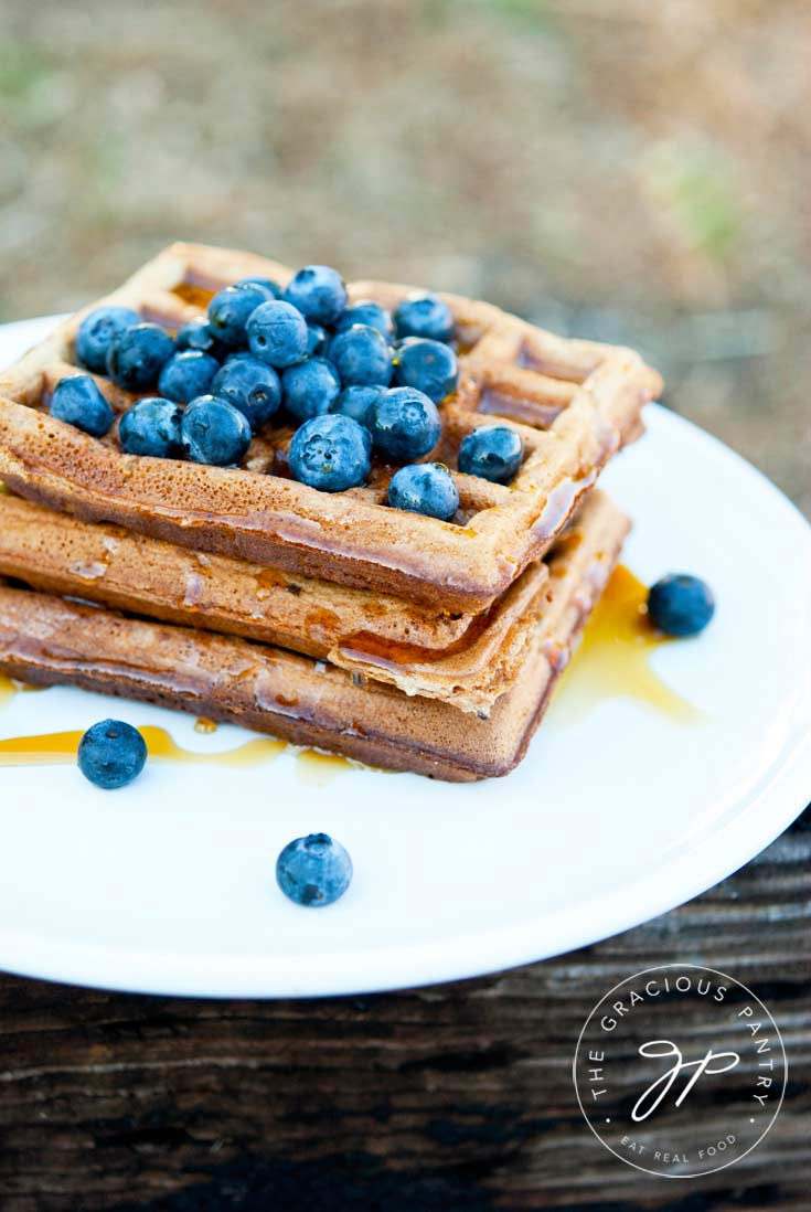 The Gracious Pantry Original Home-Style, Clean Eating Waffles Recipe