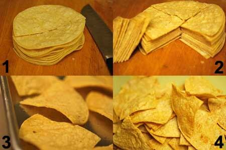 Making Baked Tortilla Chips