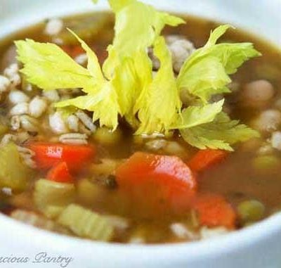 Clean Eating Beans And Barley Soup