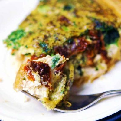 Pesto Quiche With Sun Dried Tomatoes Recipe