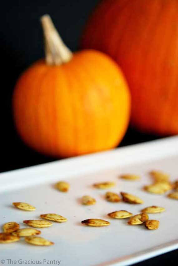 Clean Eating Roasted Curry Pumpkin Seeds