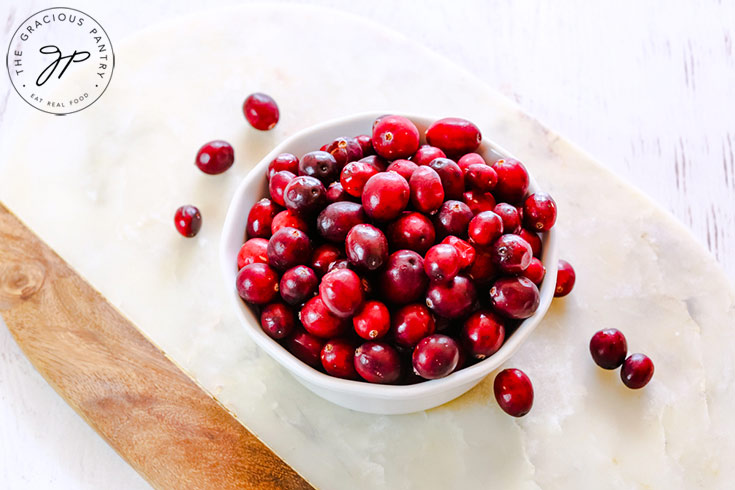 Step one of this Homemade Cranberry Sauce Recipe