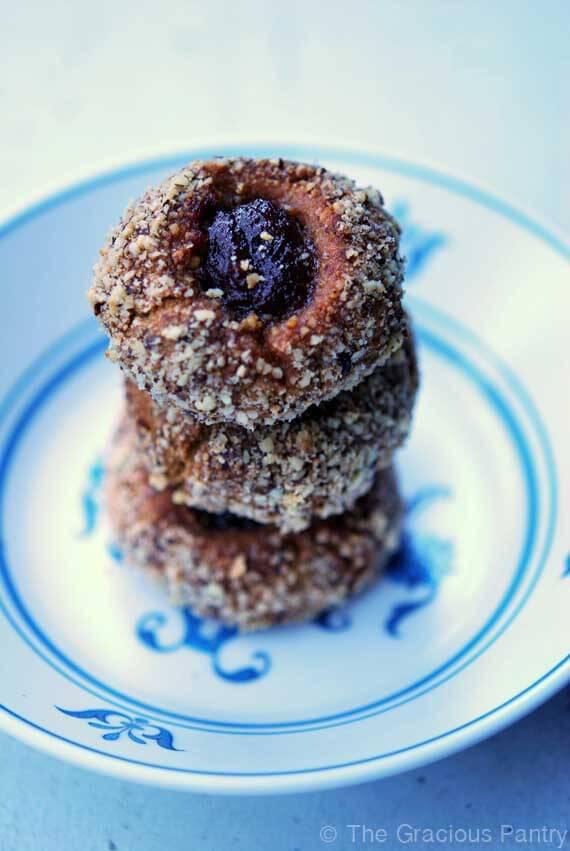 Clean Eating Thumbprint Cookies