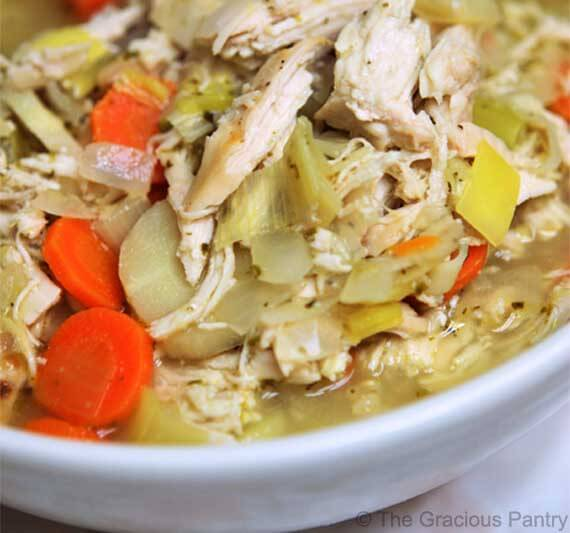 Clean eating chicken soup recipe the gracious pantry clean eating chicken soup recipe forumfinder Images