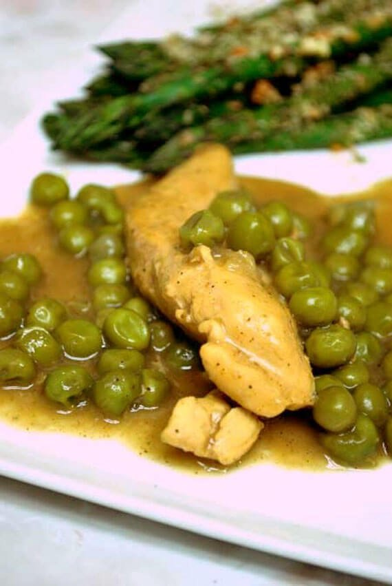 Clean Eating Curry Chicken With Peas