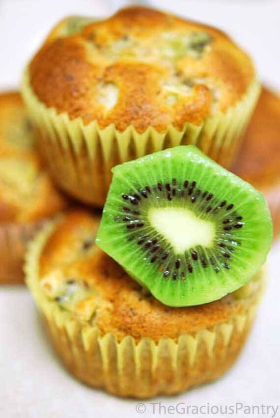 Clean Eating Kiwi Muffins