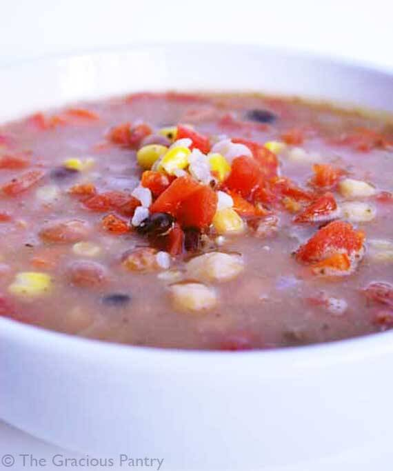 Clean Eating Three Bean Soup