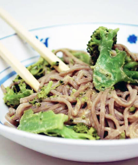 Clean Eating Chicken and Broccoli Soba Noodles