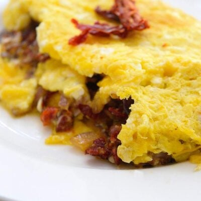 Sun Dried Tomato Omelet Recipe