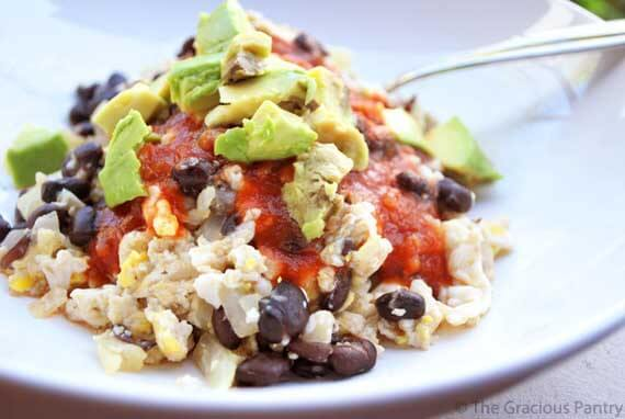 Clean Eating Black Bean Scramble