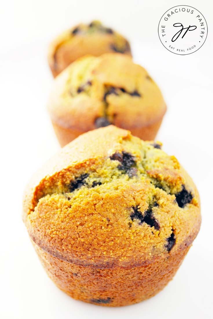 Clean Eating Blueberry Corn Muffins Recipe