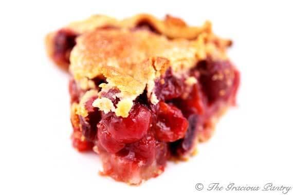 Naturally Sweetened Cherry Pie Recipe