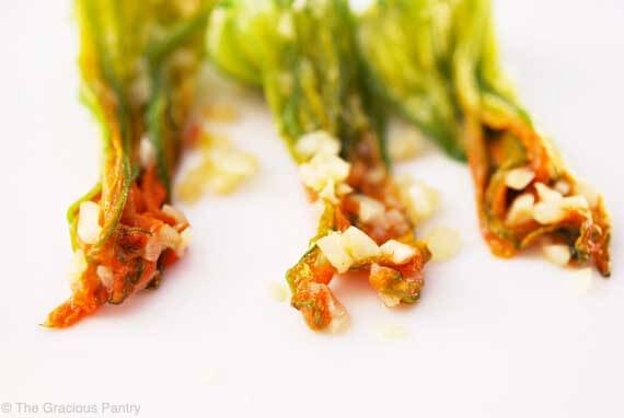 Clean Eating Squash Blossoms