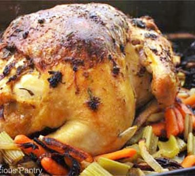 Clean Eating Whole Roasted Chicken Recipe