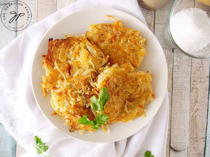 Served homemade hash browns recipe.
