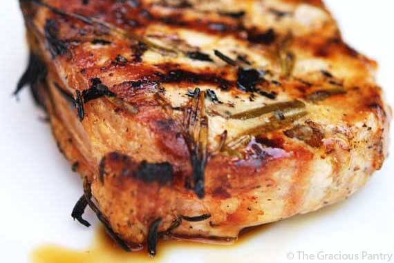 Clean Eating Barbecue Rosemary Pork Chops