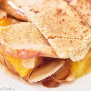 Clean Eating Peach Almond Cobbler