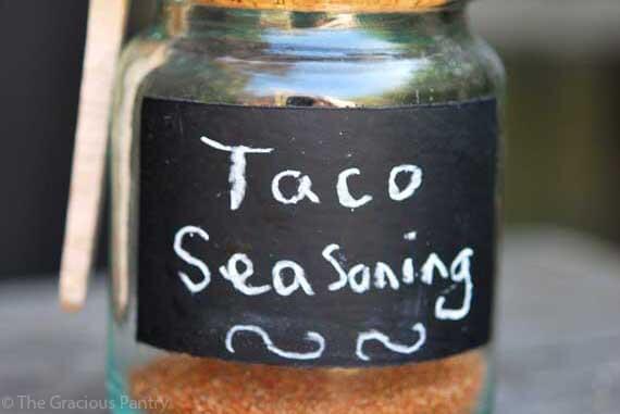 Taco Seasoning Recipe The Gracious Pantry