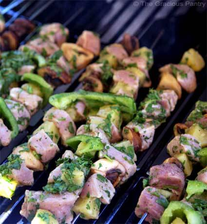 Clean Eating BBQ Pineapple Pork Kebobs Recipe