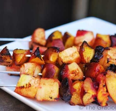 Clean Eating Cinnamon Fruit Kebobs Recipe