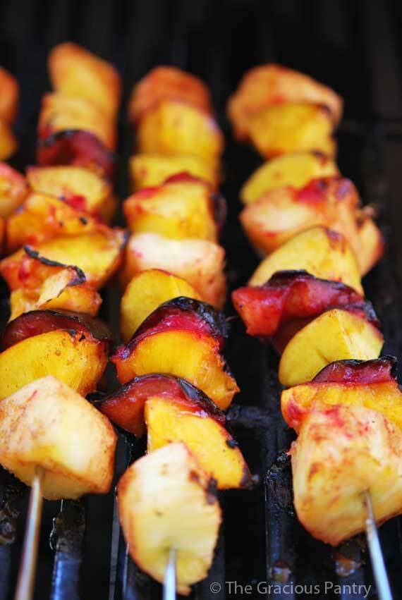 Clean Eating Cinnamon Fruit Kebobs