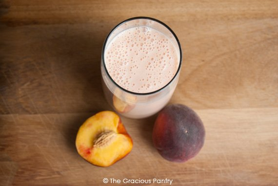 Clean Eating Peach Smoothie Recipe