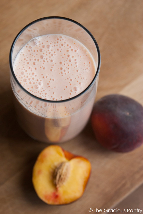 Clean Eating Peach Smoothie
