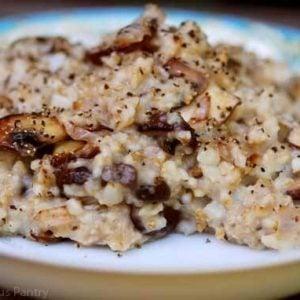 Clean Eating Savory Oatmeal