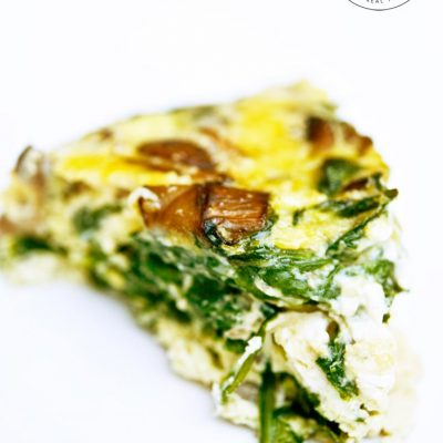 Clean Eating Garlic Mushroom And Spinach Frittata Recipe