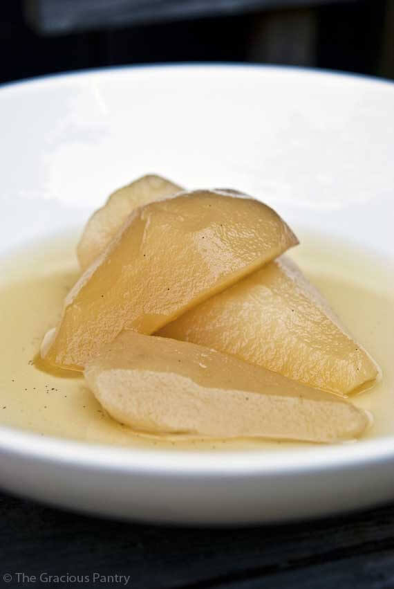 Clean Eating Poached Pears