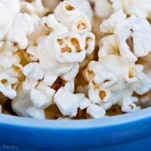 bowl of coconut oil popcorn