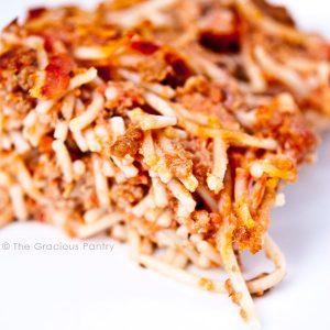 Clean Eating Spaghetti Pie Recipe
