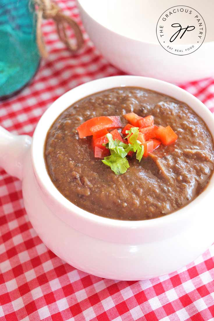Clean Eating Black Bean Soup Recipe