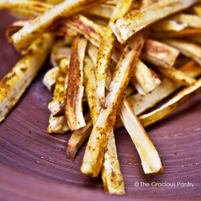 Clean Eating Curry Parsnip Fries Recipe