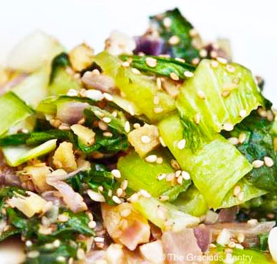 Clean Eating Ginger Bok Choy Recipe