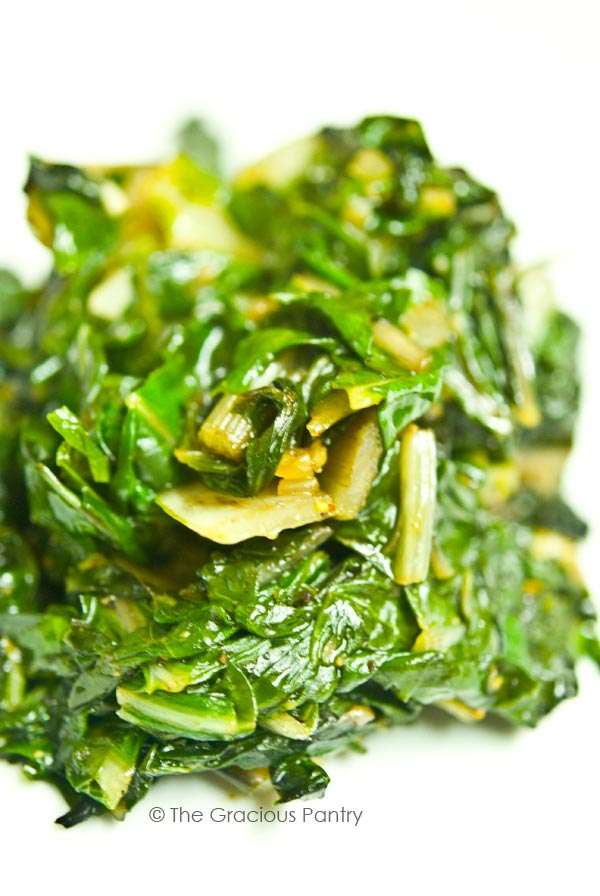 Clean Eating Garlic Onion Chard Recipe