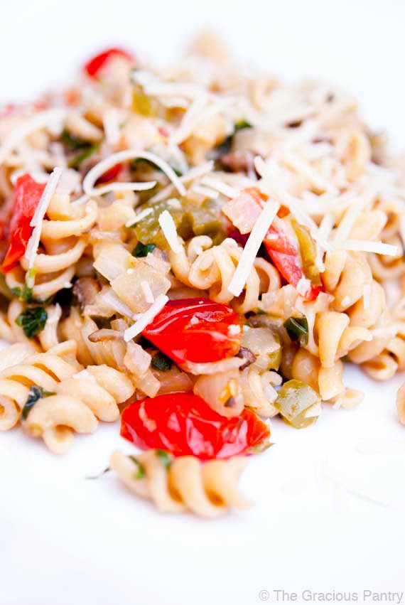 Clean Eating Chicken Vegetable Pasta Recipe