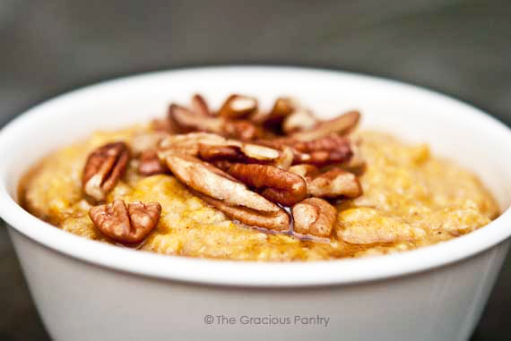 Clean Eating Pumpkin Pie Oatmeal Recipe