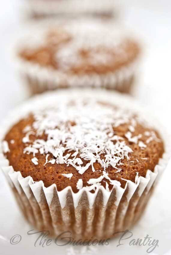 Clean Eating Coconut Pineapple Muffins