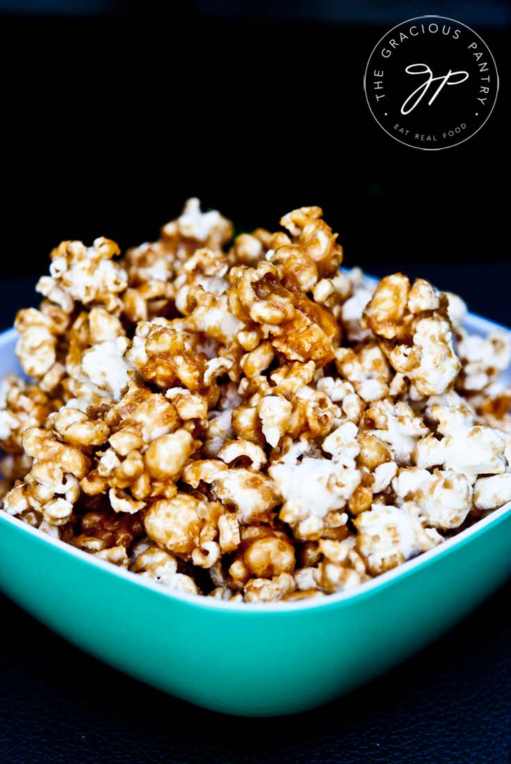 Clean Eating Caramel Popcorn Recipe