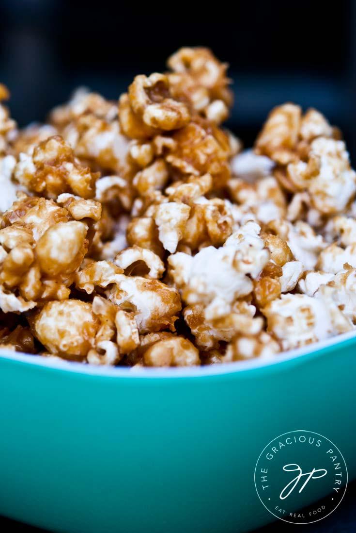 Clean Eating Caramel Popcorn Recipe