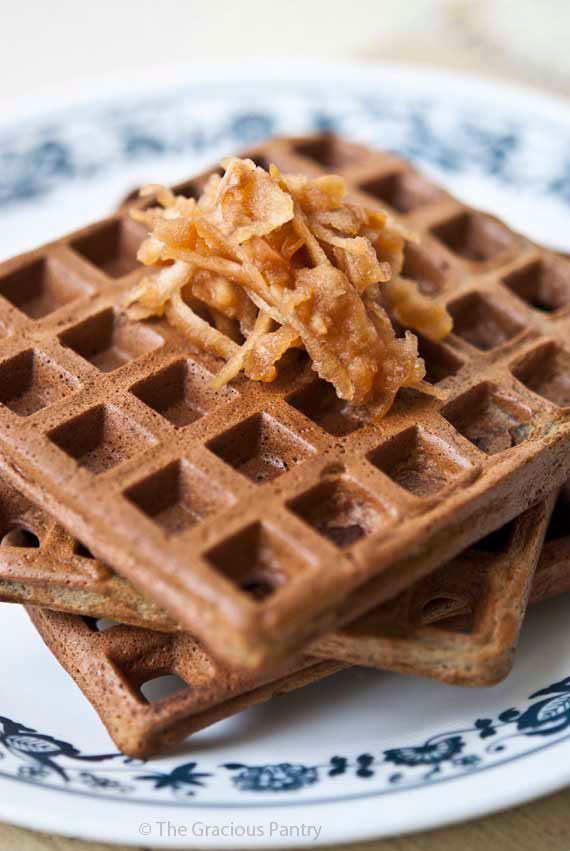 Clean Eating Protein Powder Waffles Recipe | TheGraciousPantry.com