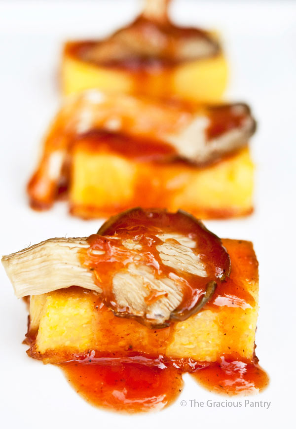 Clean Eating BBQ Mushroom Polenta Recipe