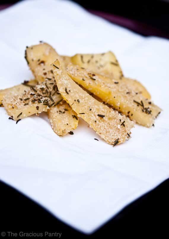 Clean Eating Rosemary Rutabaga Fries