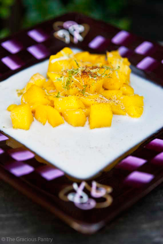 Clean Eating Tropical Mangos And Cream Recipe