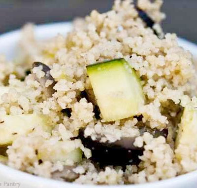 Clean Eating Raw Zucchini Couscous With Lime And Olives Recipe
