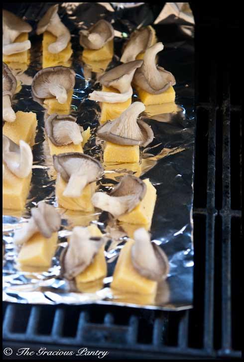 Clean Eating BBQ Mushroom Polenta
